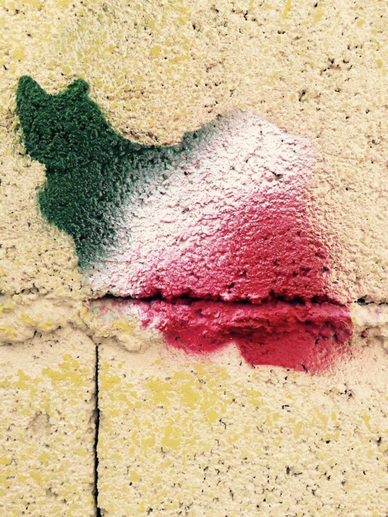 iran map micro graffiti by me