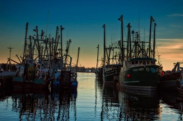 Dawn. Port of New Bedford  Massachusetts.