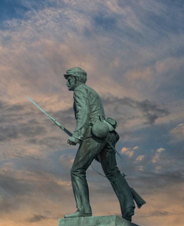 Civil War Statue. Randolph Massachusetts