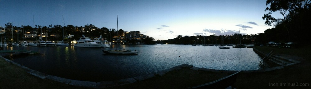 Mosman Bay on Monday evening