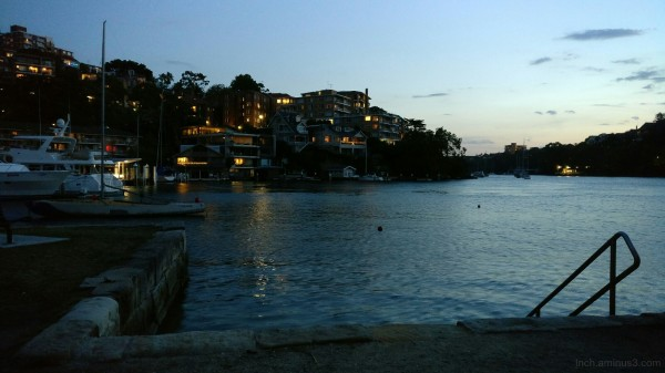Mosman Bay on Monday evening - 2