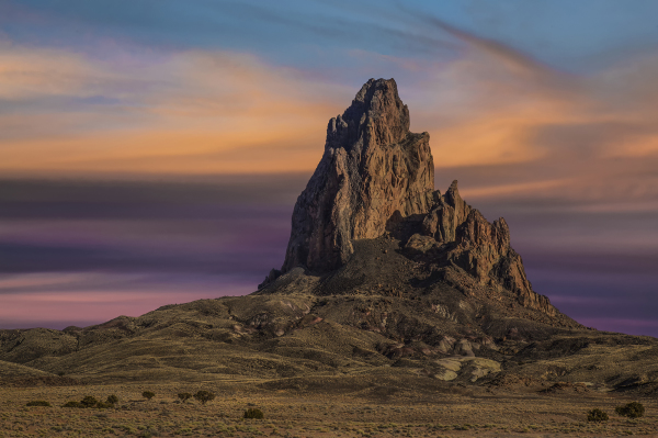 Sunset at Agathla Peak near Kayenta, Arizona