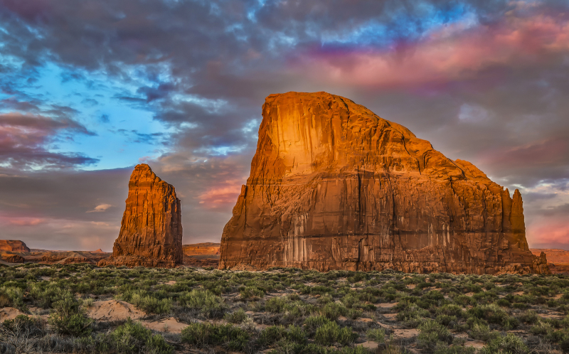 Whale Rock in Lukachukai, Arizona