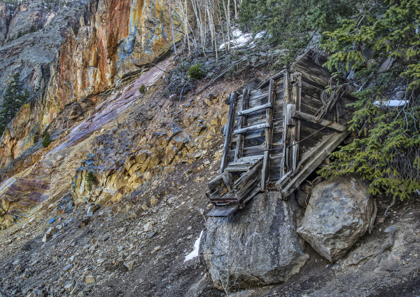 Mining Structure In Mountains of Ouray, Colorado