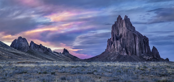 Sunset at Shiprock Peak