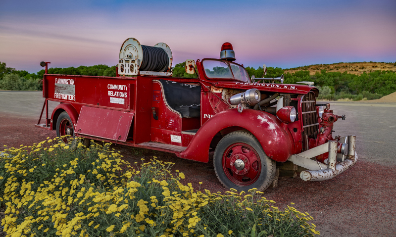 Vintage Farmington, New Mexico Fire Truck