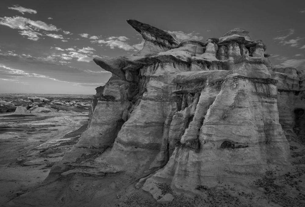 Bisti Badlands B&W