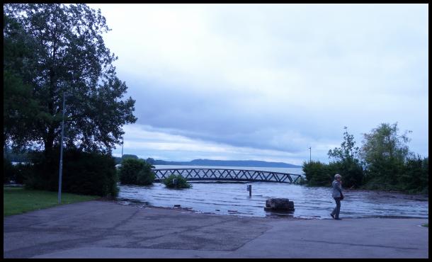 le niveau du lac