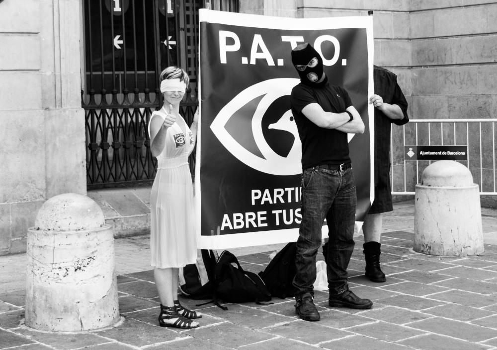 street activists in Barcelona