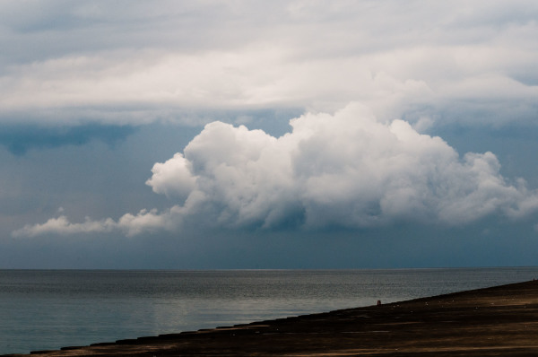 Storm cell over Lake Michigan
