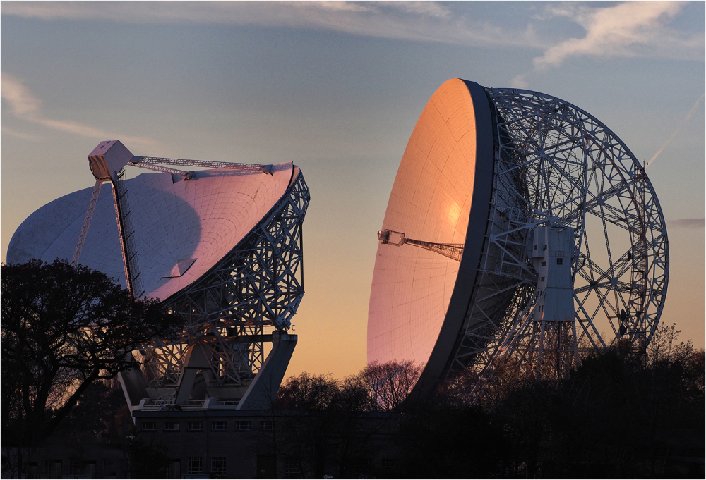 Jodrell Bank in Evening Sun