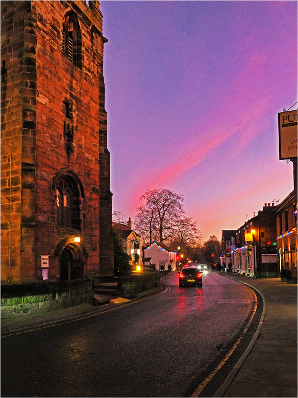 Holmes Chapel at sunset