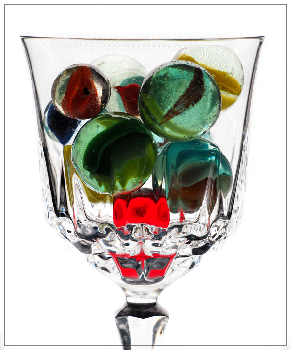 Marbles in Glass