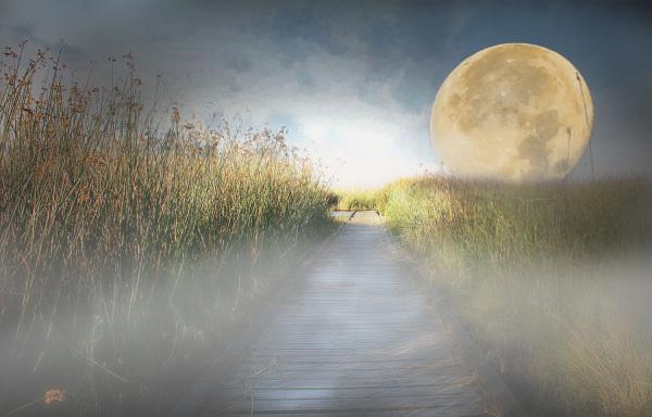 Super Moon over Pier