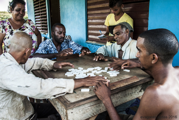 Farmers playing domino in Vinales, Cuba.