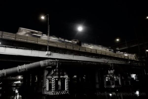 Under the tracks at Phra Khanong canal