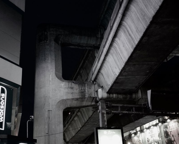 Under the tracks at Siam