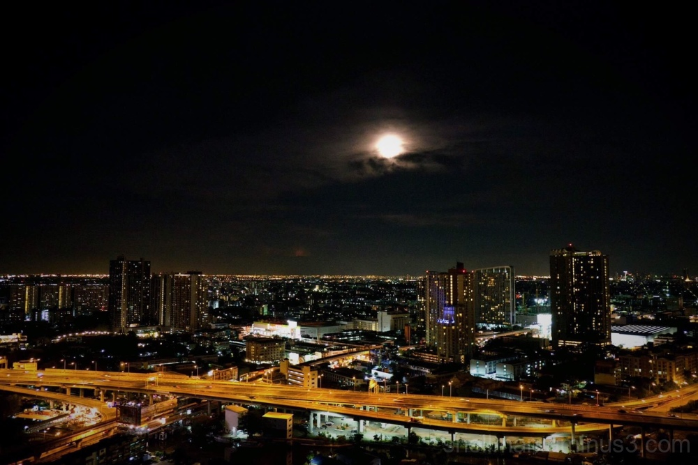 Vesak Moon over Southern Bangkok