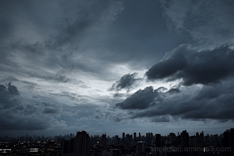Stormy Sunset - Bangkok