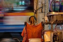 Slowlife on streetside.