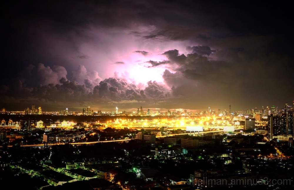 Stormy night in Bangkok