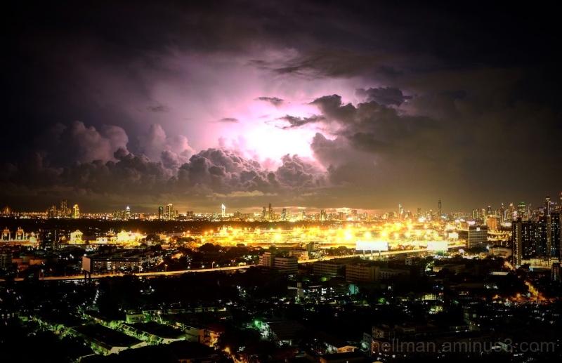Stormy night in Bangkok