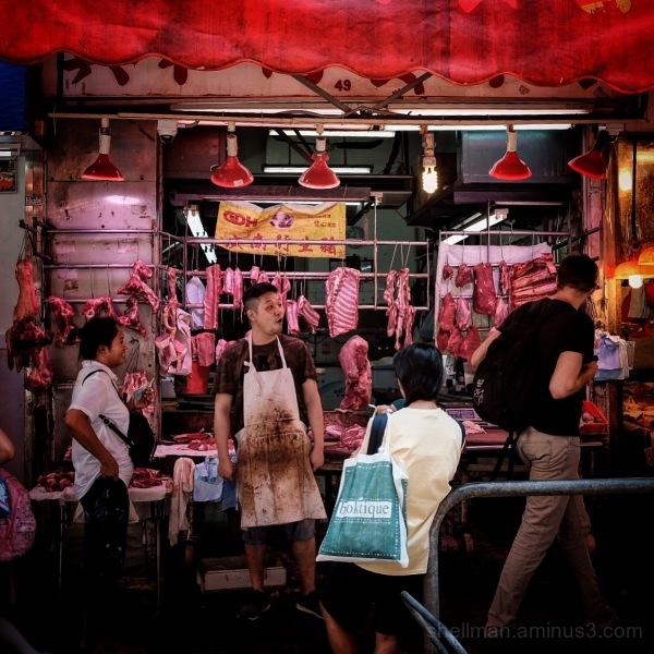 Sassy butcher in Causeway Bay