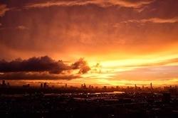 Burning Sunset over Bangkok