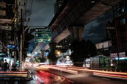Rainy night on Sukhumvit Road