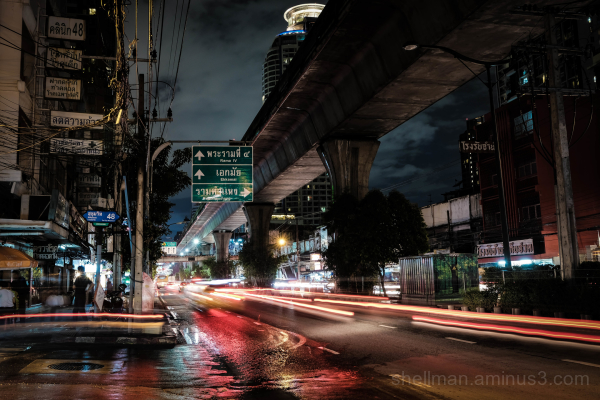 Rainy night on Sukhumvit Road