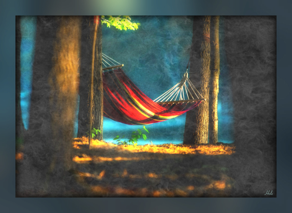 ...sometimes our world needs a good hammock.