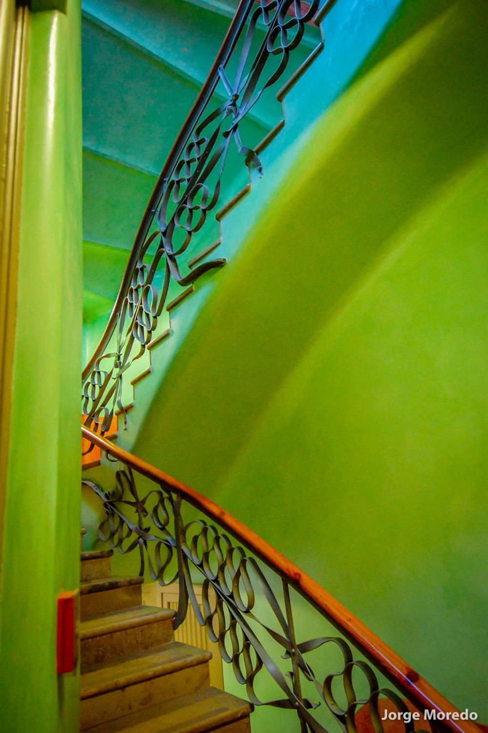 Stairs in La Pedrera, gaudi Architect.