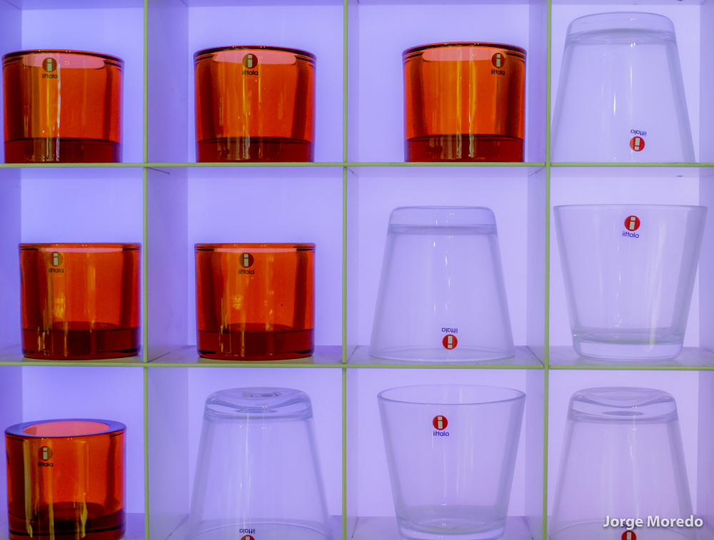ittala glasses on display