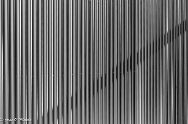 abstract shot of a metal door