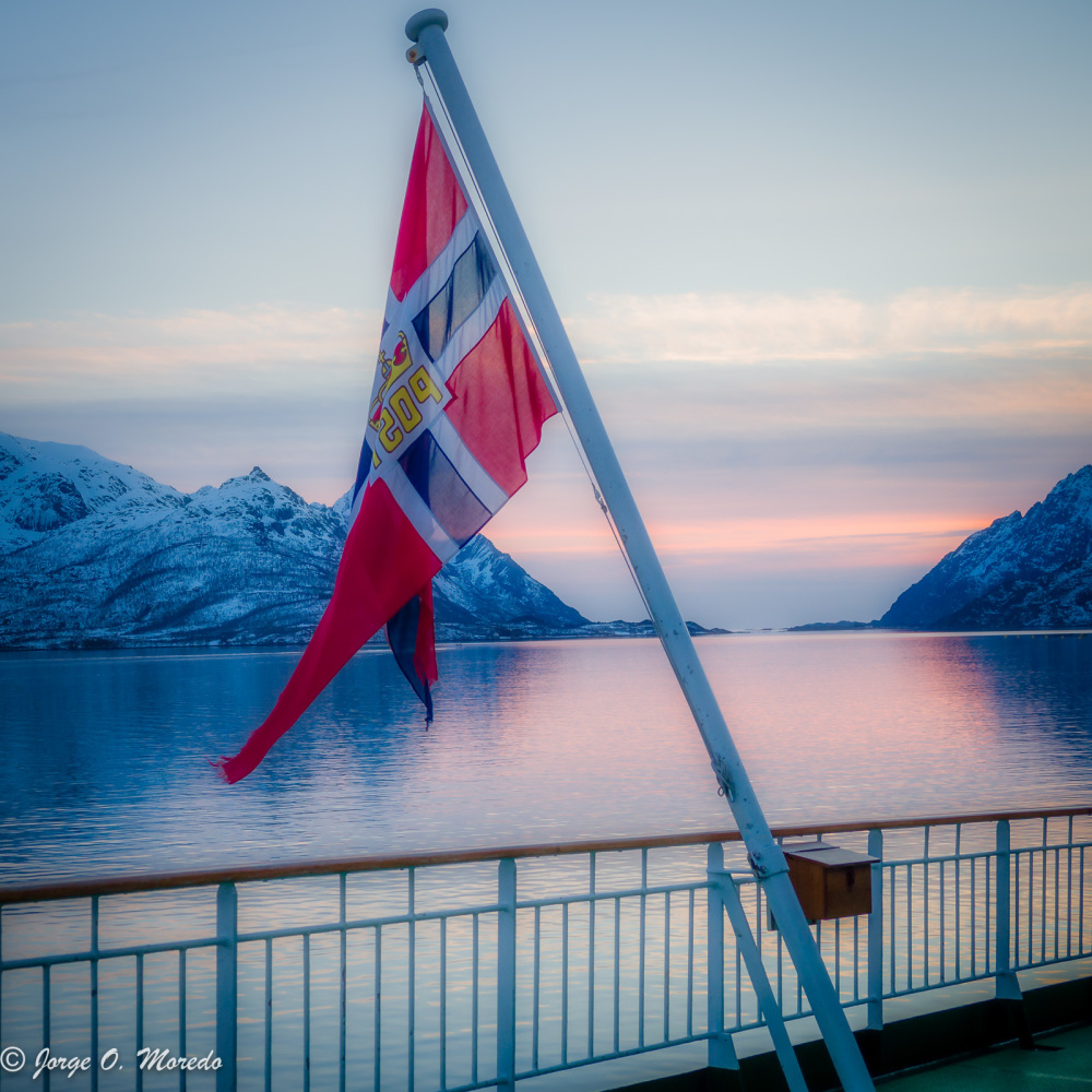 Sunset on the Raftsundet, Norway