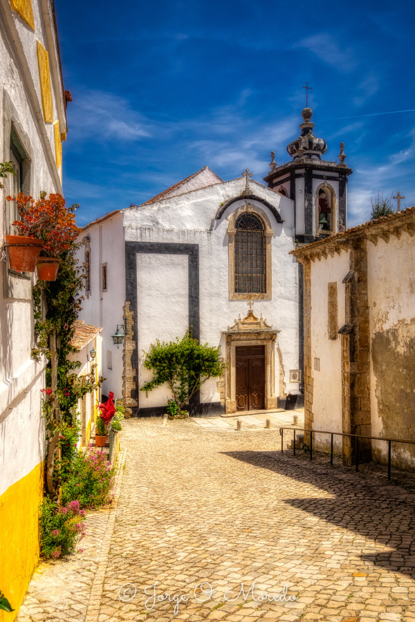 Street in Obidos Portugal