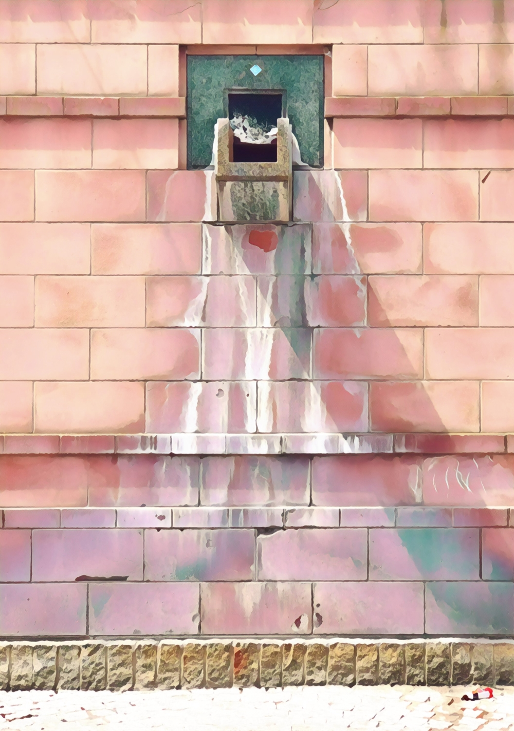 Dry Fountain in pastels