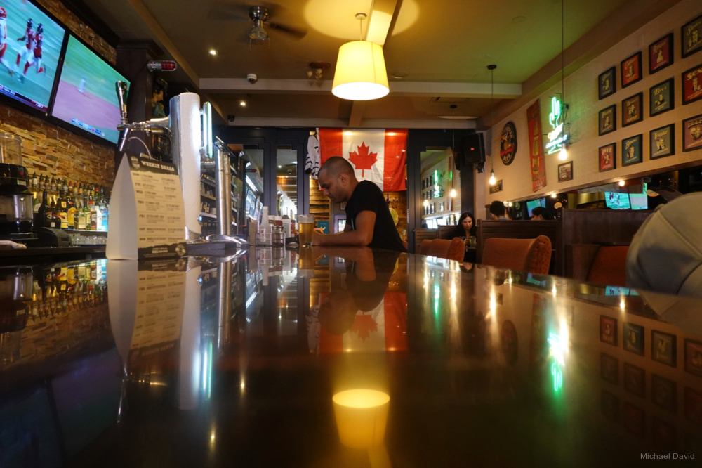 Lunch in a Bloor St. bar