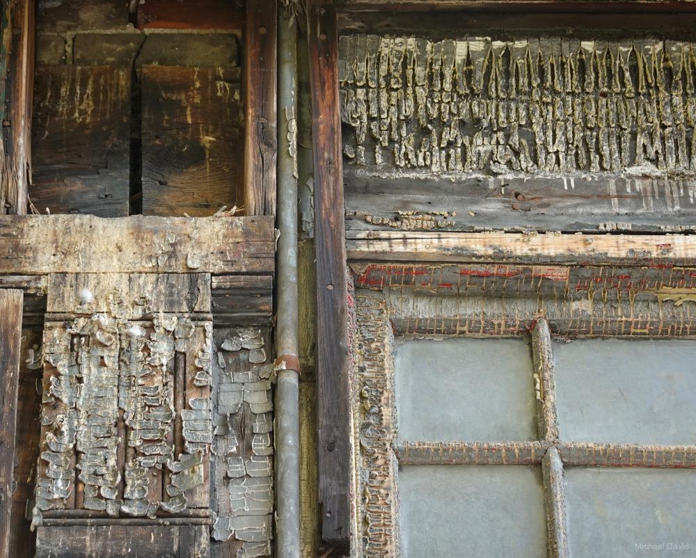 Well worn store facade