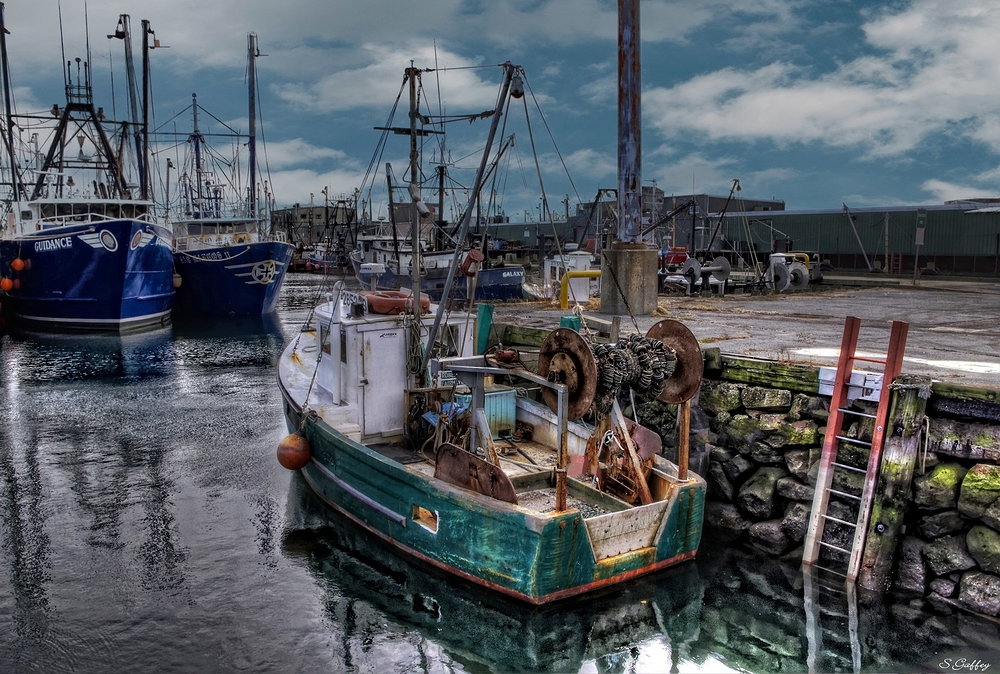 Fish Dock. Fall River Massachusetts.