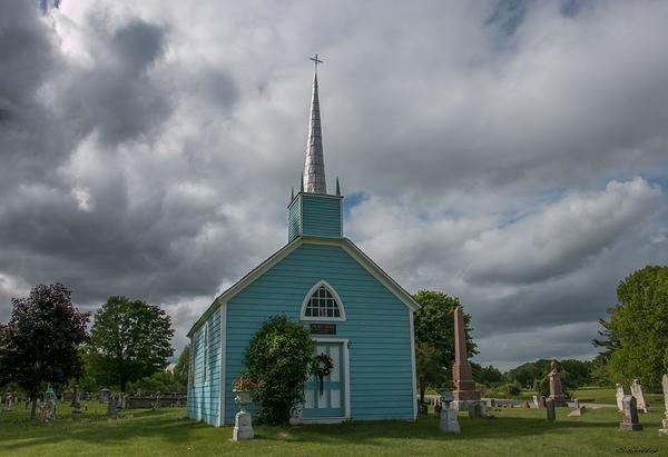 The Blue Church. Prescott Ontario. Est 1790