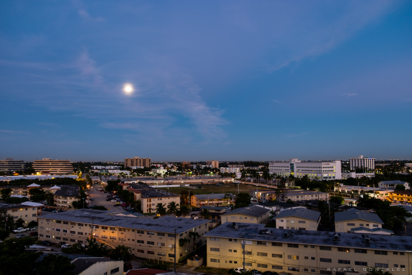 North Miami, Florida.  Early morning view from my