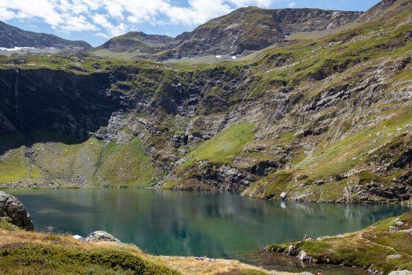 paysage, vue du lac d'isabe, au dessus de Laruns