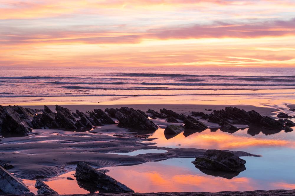 couleurs du coucher de soleil