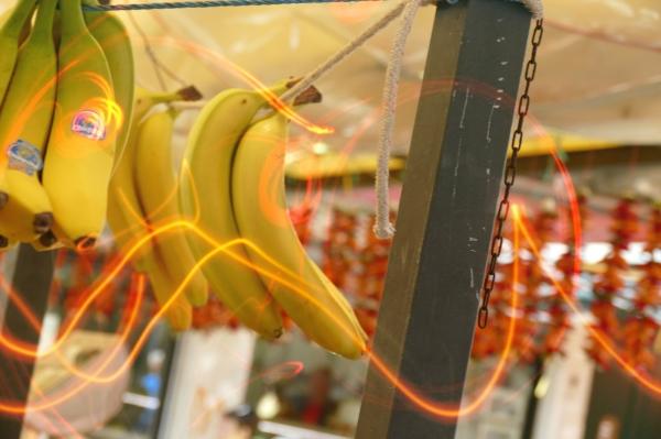 Les bananes s'enchaînent dans la passion...