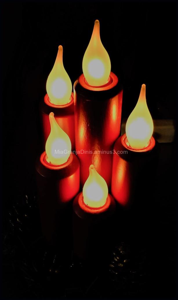 Christmas Light Candle Decoration