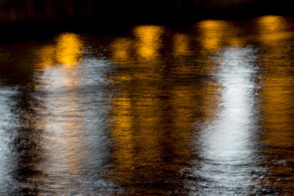 reflejos en el rio