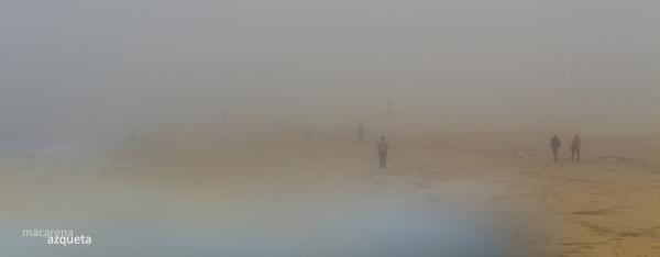 niebla en la playa