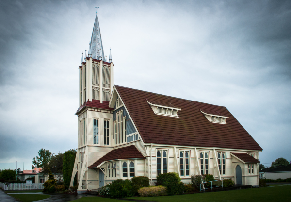 St Marks church building in Wairoa NZ