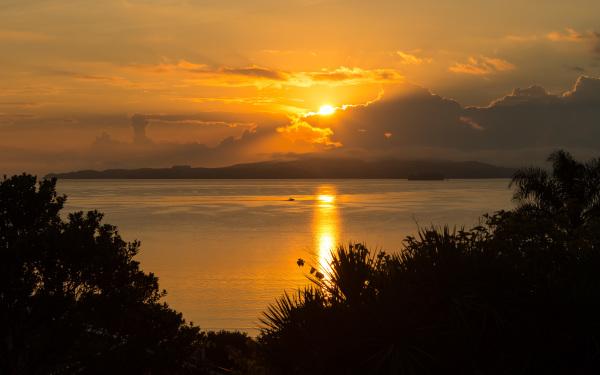 Sunrise over Kawau Island